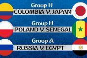 Colombia vs Japan, Poland vs Senegal, Russia vs Egypt FIFA World CUP 2018, Free Live Streaming