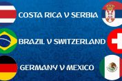 Costa Rica vs Serbia, Germany vs Mexico, Brazil vs Switzerland FIFA World CUP 2018, Free Live Streaming