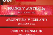 France vs Australia, Argentina vs Iceland, Peru vs Denmark, Croatia vs Nigeria FIFA World CUP 2018, Free Live Streaming